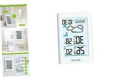 Indoor & Outdoor Thermometer and Hygrometer with White Backl