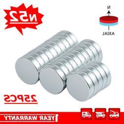 25PCS 12mmX3mm Fridge DIY Project N52 Magnets Strong Disc Ra