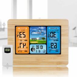 Indoor Outdoor Digital LCD Wireless Color Weather Station Ca