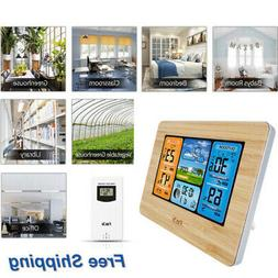 indoor outdoor digital lcd wireless color weather