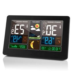 Indoor Outdoor Digital LCD Wireless Color Weather Station Ca