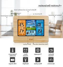 Indoor Outdoor Digital LCD Wireless Weather Station Calendar