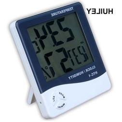 Indoor Thermometer Hygrometer Electronic Digital LCD C/F Tem
