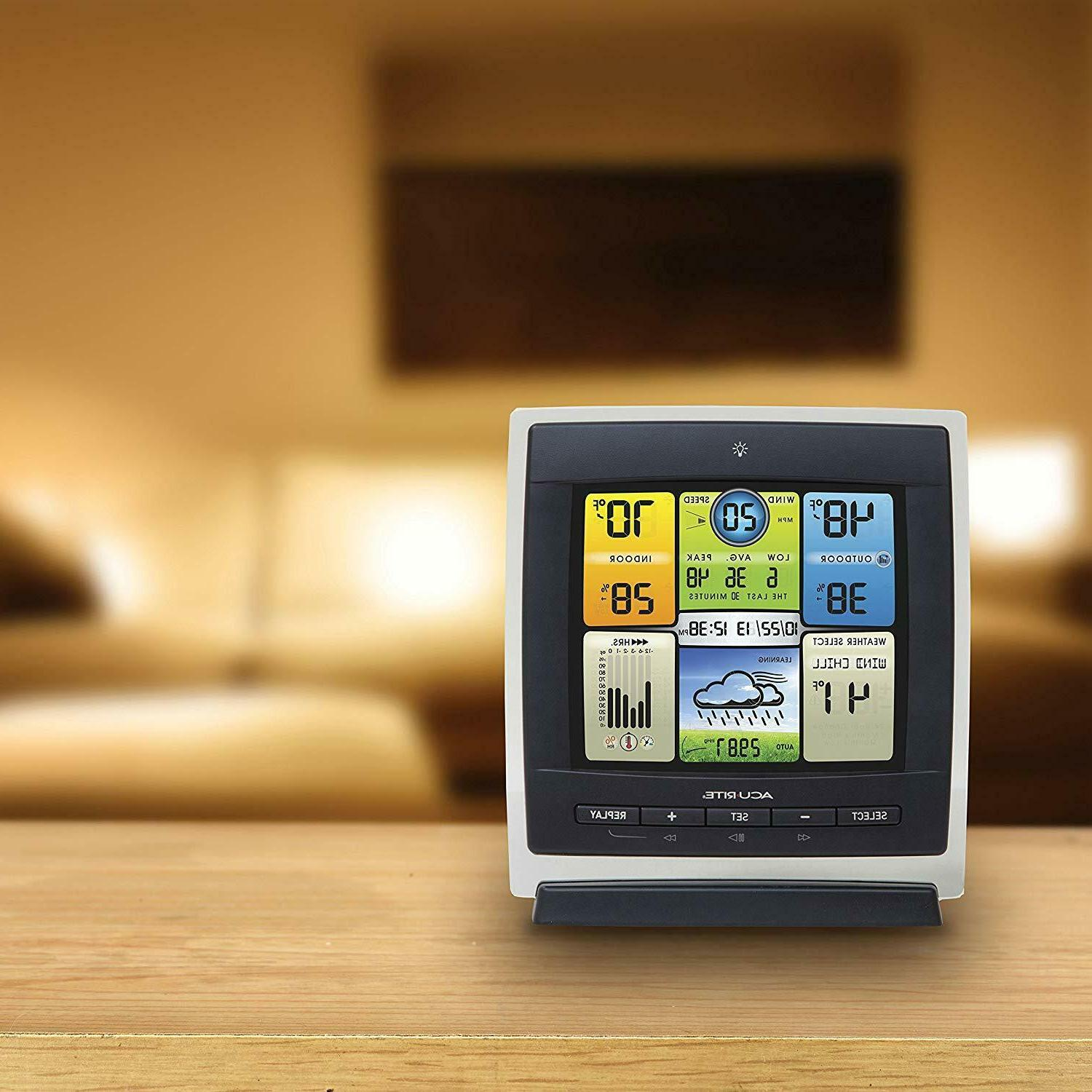 AcuRite 00589 Pro Color Weather Station with Speed, and