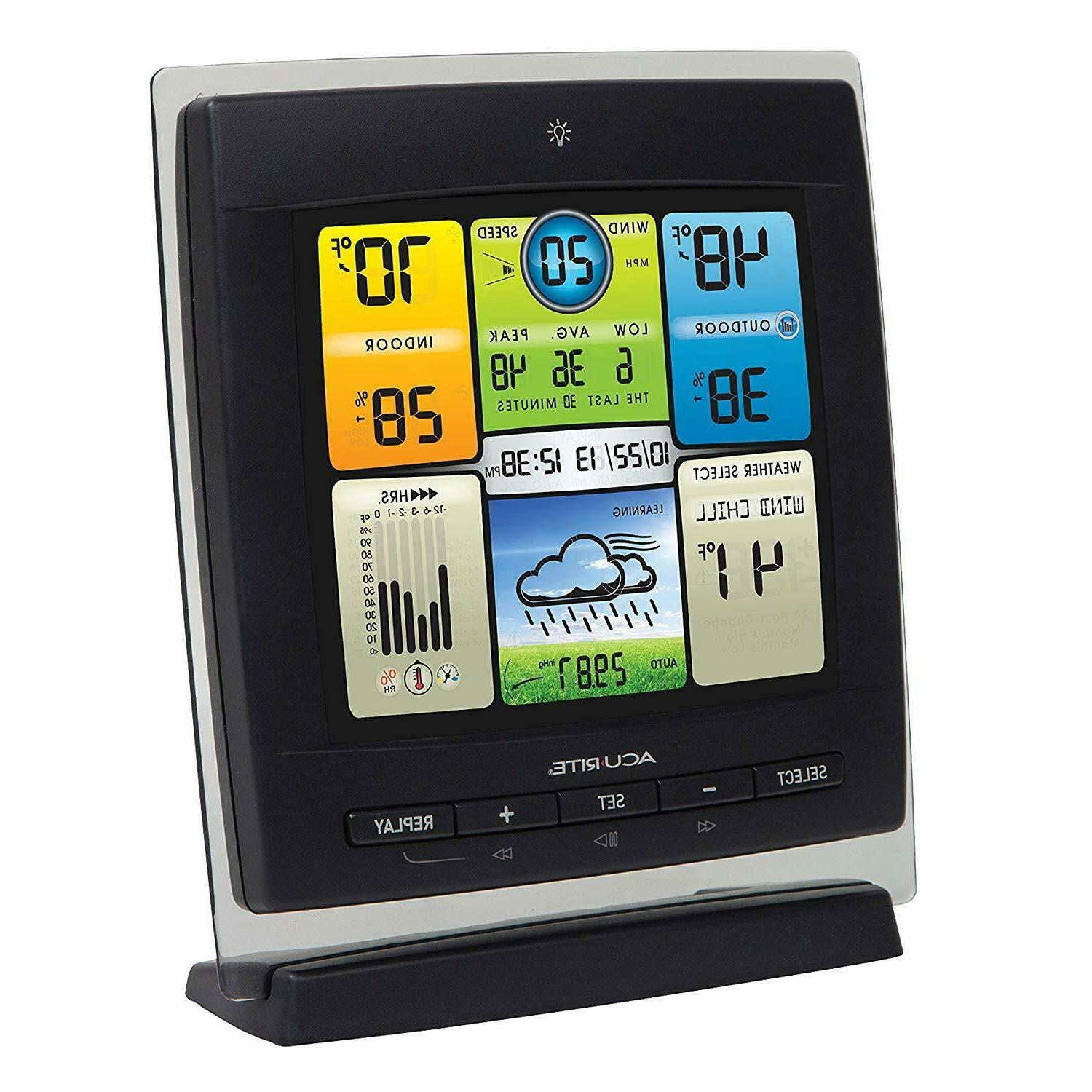 AcuRite 00589 Color Weather Station Wind Speed,