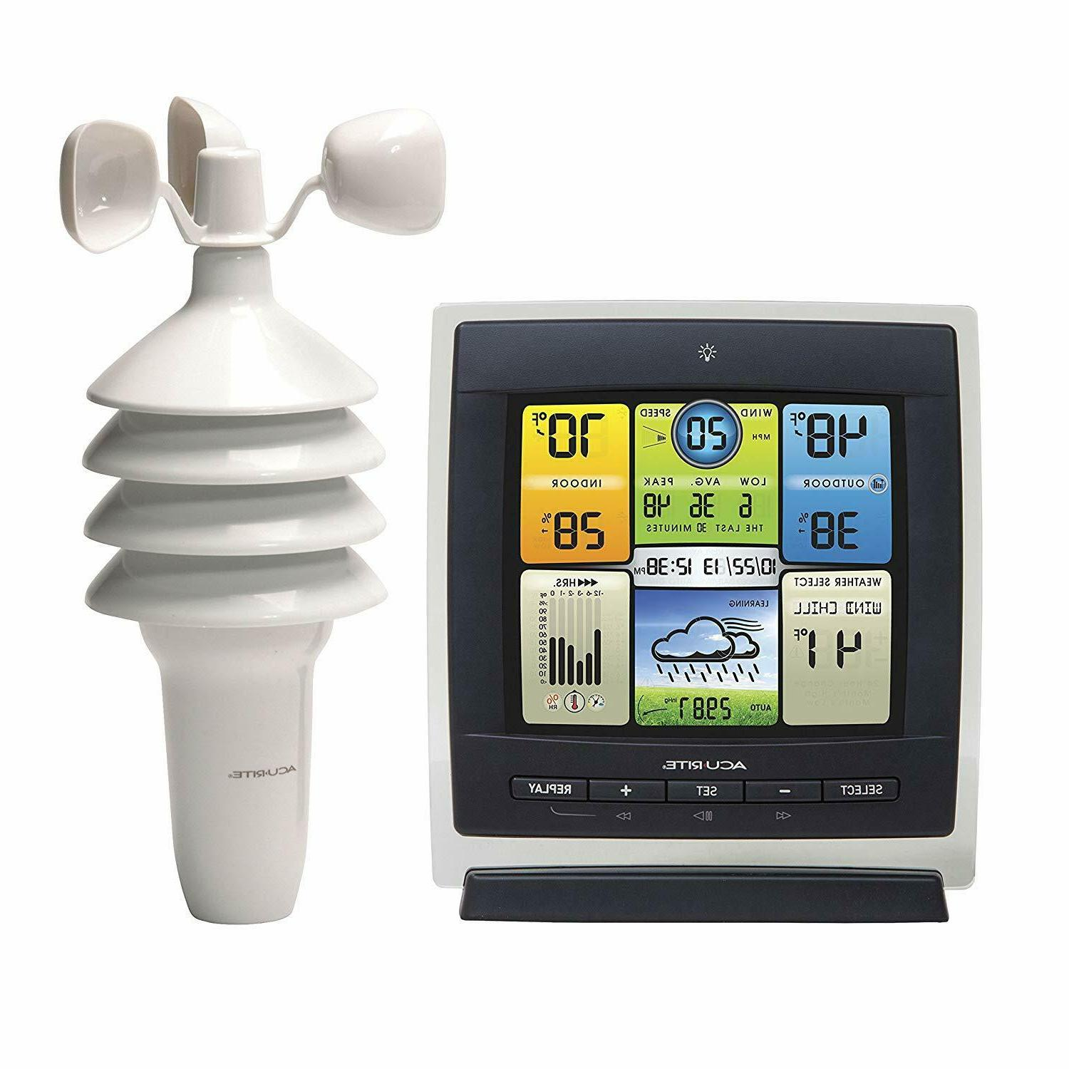 00589 pro color weather station with wind