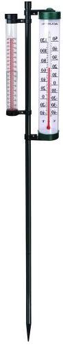 AcuRite 02345 8-Inch Rain Gauge & Thermometer Swivel Combina