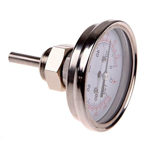 1 2 stainless steel thermometer