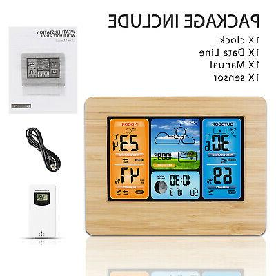Digital Outdoor Weather Clock Calendar Thermometer