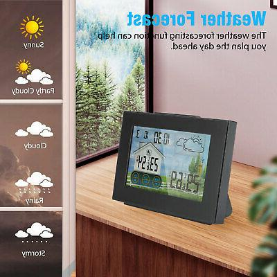 LCD Remote Indoor Outdoor Calendar Thermometer