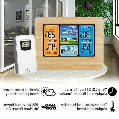 Digital Outdoor Weather Station Clock Calendar Wireless
