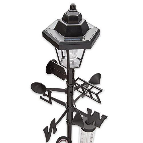 60 '' Tall. Solar Station with Solar Powered Light - Measures Wind Speeds