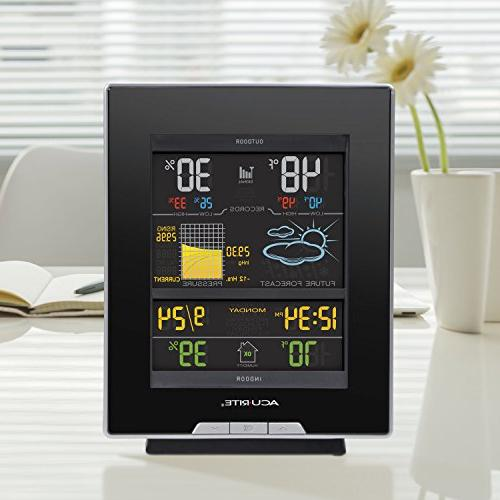 AcuRite Station Humidity, Barometric Clock-Full