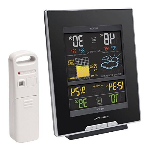 AcuRite Color Weather Station Humidity, Pressure, Clock-Full Color