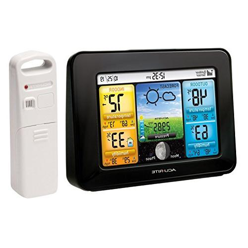 AcuRite 02077 Color Weather Station Forecaster with Humidity,