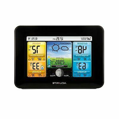 AcuRite 02077 Color Weather Station Forecaster with Temperat