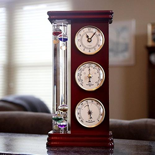 Lily's Station, with a Precision Quartz Clock, and Hygrometer, 5