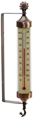 AcuRite 02309 Weathered Copper Tube Thermometer with Sun and