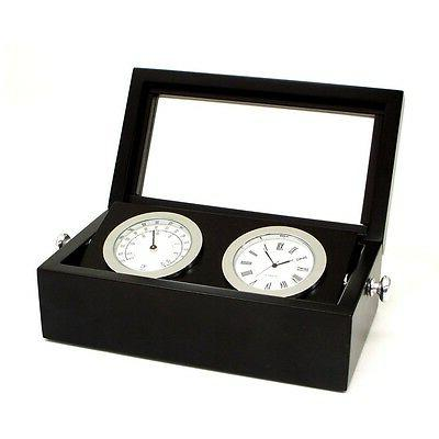 Chrome Clock and Thermometer