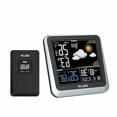color digital wireless indoor outdoor weather station
