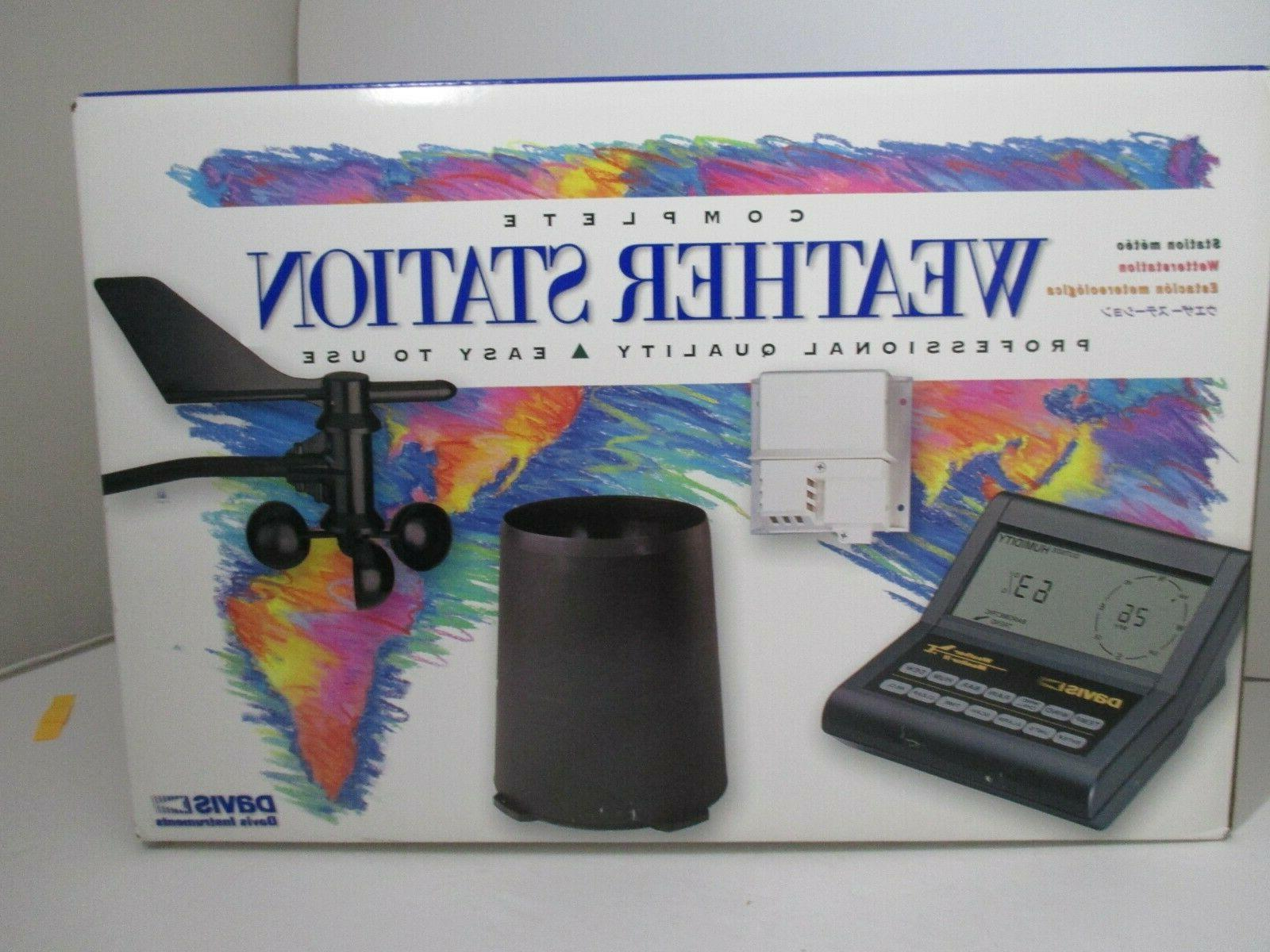 complete weather station model 7440cs open box