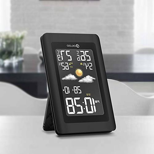 Digoo Negative Color Screen Outdoor Glass Hygrometer Digital Forecast Sensor