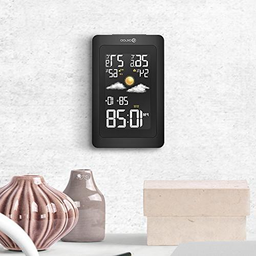 Digoo DG-TH11300 Wireless HD Negative Color USB Outdoor Glass Hygrometer Forecast Sensor Humidity Temperature Sensor