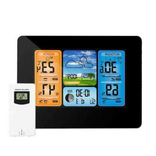 digital lcd indoor and outdoor weather station