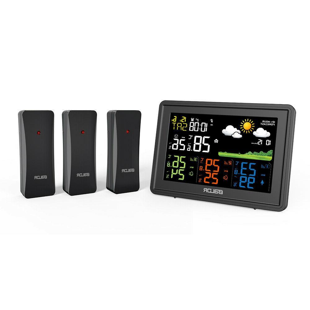digital lcd indoor outdoor weather station 3