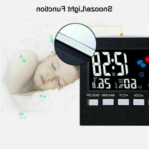 Digital Hygrometer Alarm Weather Station Clean US