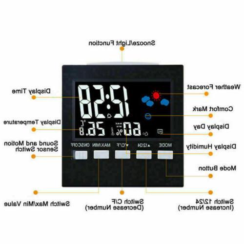 Digital Hygrometer Alarm Weather Clean US