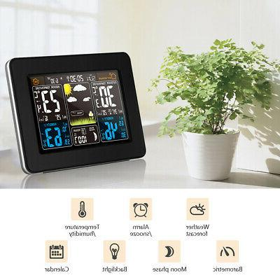 digital weather station in outdoor thermometer hygrometer