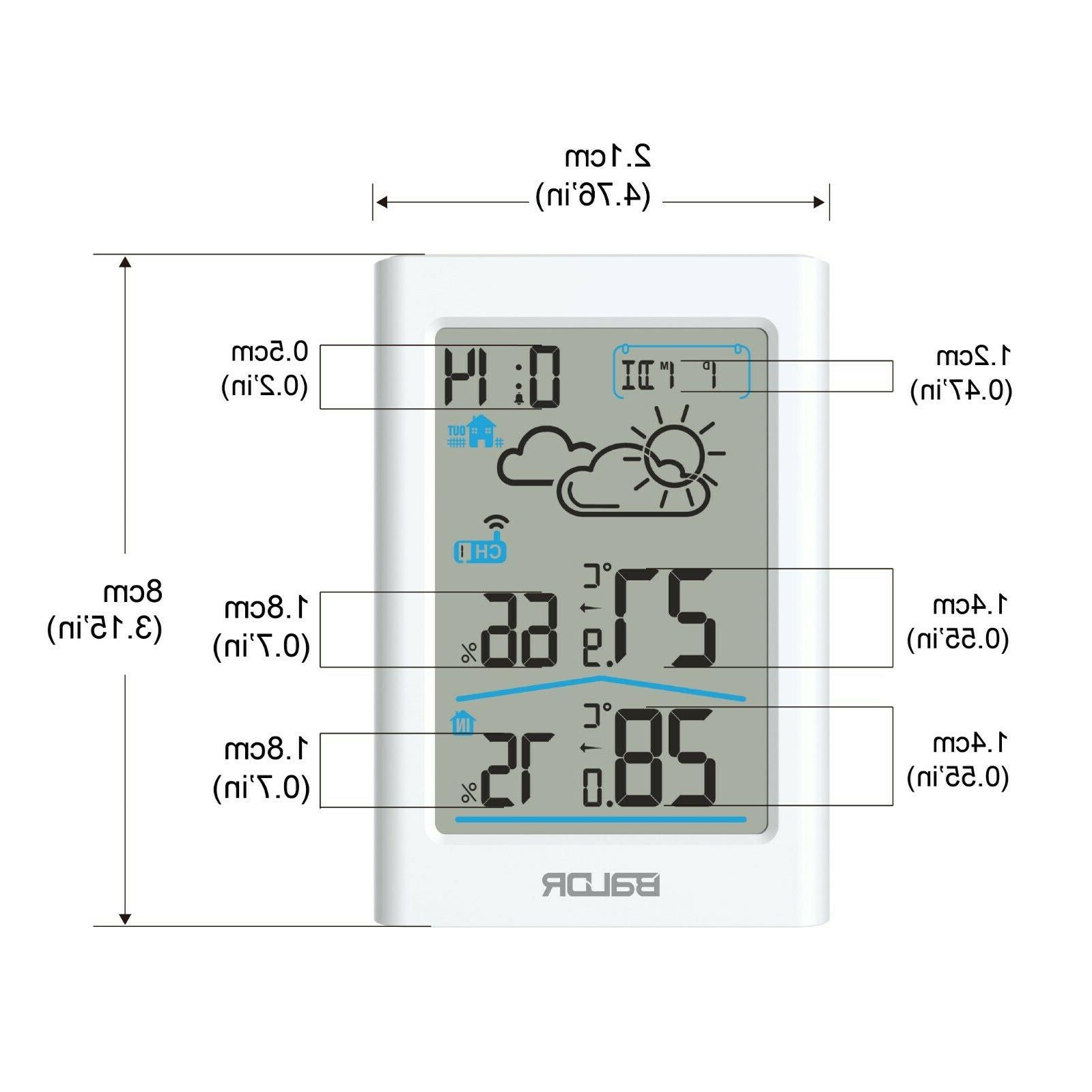 Baldr Wireless Clock Thermometer with