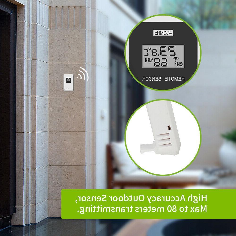 Baldr Weather Wireless Clock In/Outdoor with Sensor