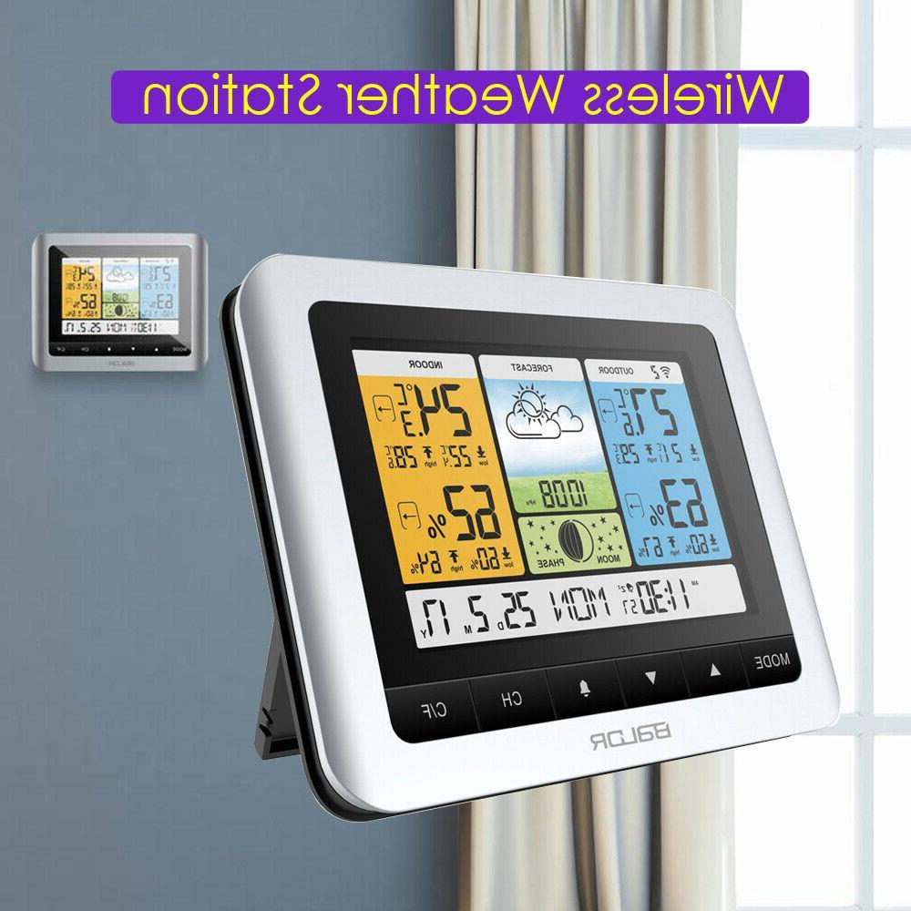 digital wireless weather station barometer indoor outdoor