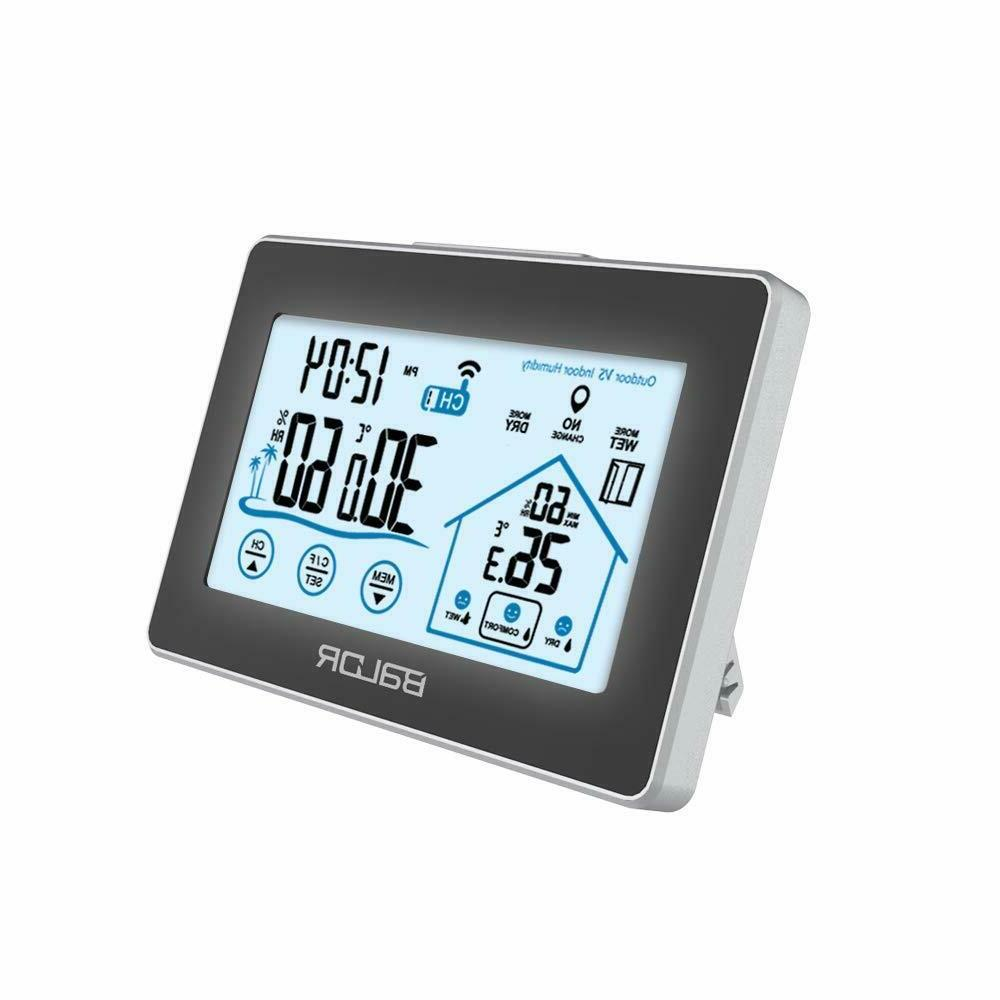 digital wireless weather station touch screen forecast