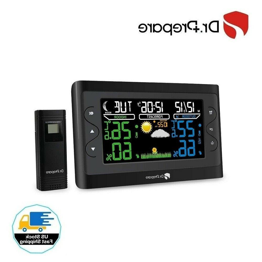 dr prepare digital weather station wireless indoor