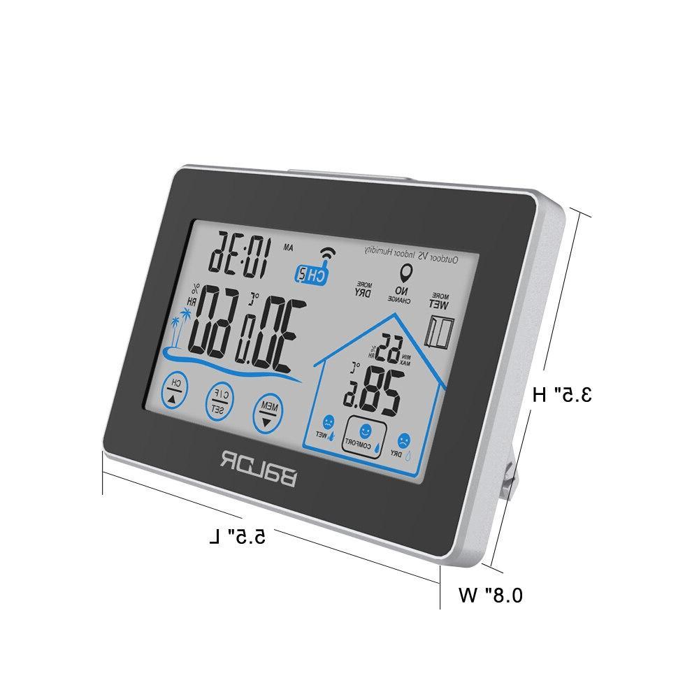 <font><b>Baldr</b></font> Wireless <font><b>Weather</b></font> Touch Calendar 3 CH