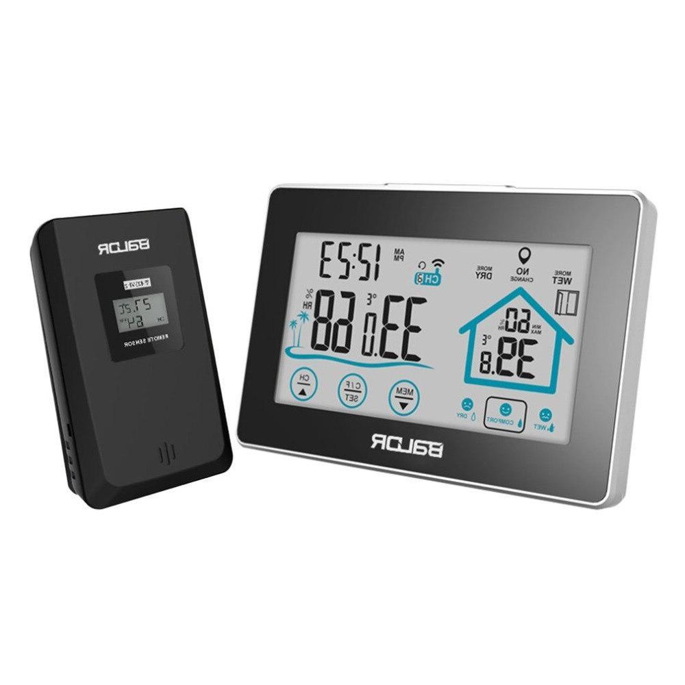 <font><b>BALDR</b></font> <font><b>Station</b></font> Wireless Touch Screen Wall Clock Moisture
