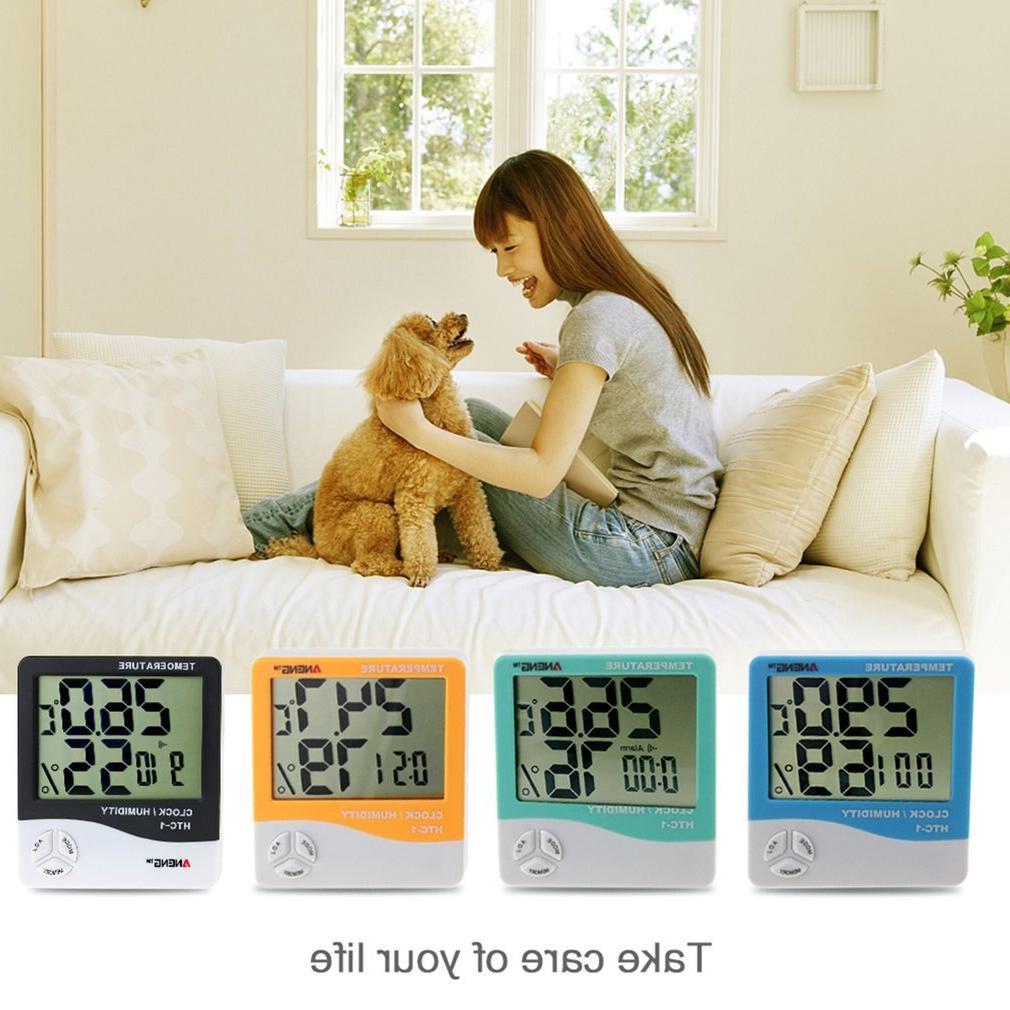 HTC-1 <font><b>Indoor</b></font> LCD Electronic Digital Meter Digital Thermometer Alarm Clock