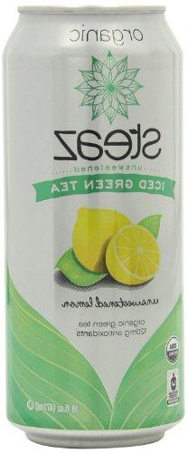 Steaz Iced Tea Can, Lemon Green, Unsweetened, Gluten Free, 1