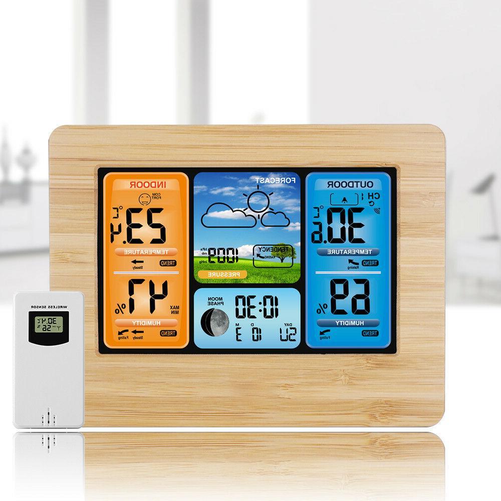 indoor outdoor digital lcd wireless color weather
