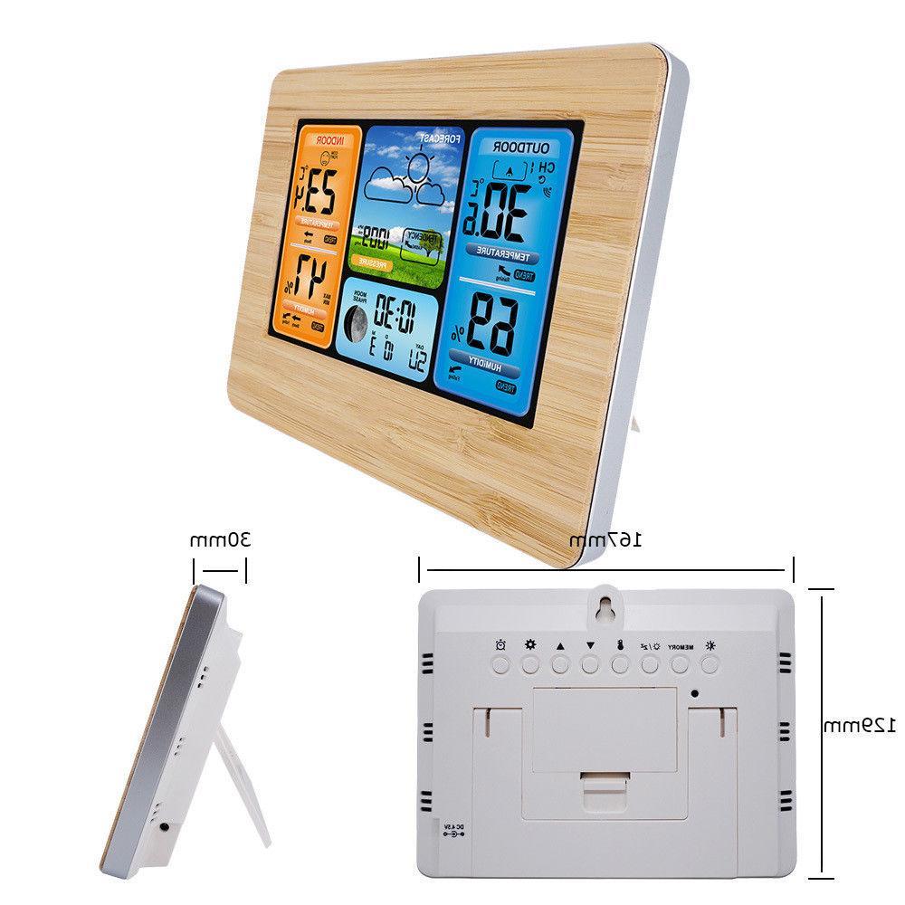 Indoor Outdoor Wireless Color Weather Station Calendar