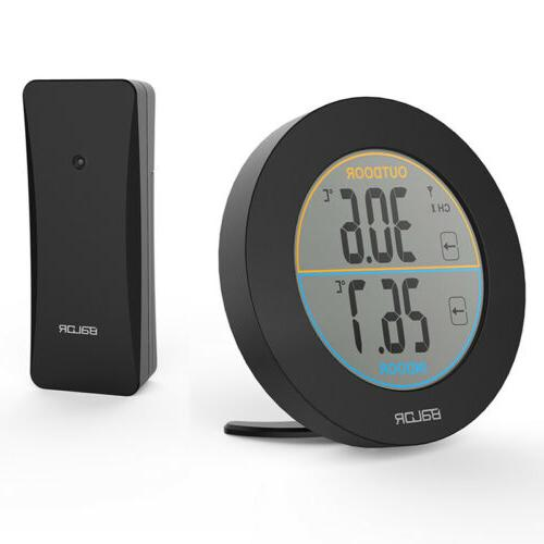 indoor outdoor thermometer hygrometer lcd display wireless