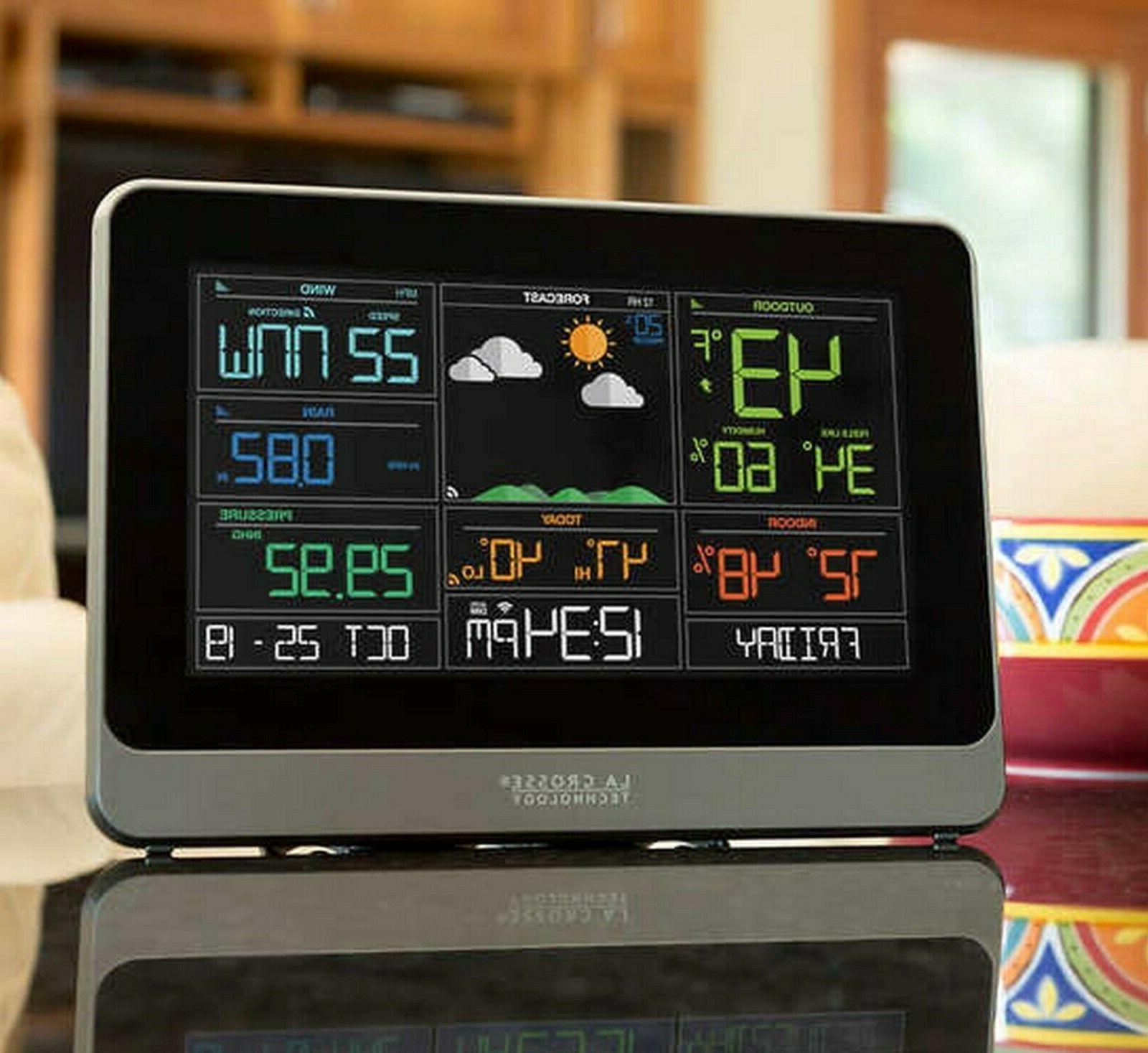 La Crosse 5-in-1 Weather Station Indoor Outdoor Temperature