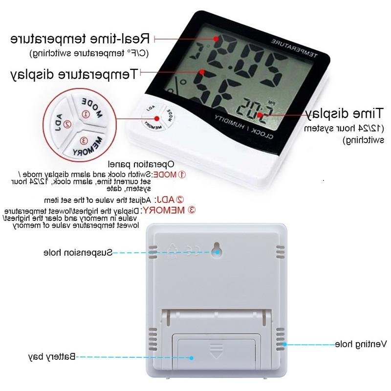 LCD Hygrometer High Precise Electronic Humidity <font><b>Weather</b></font>