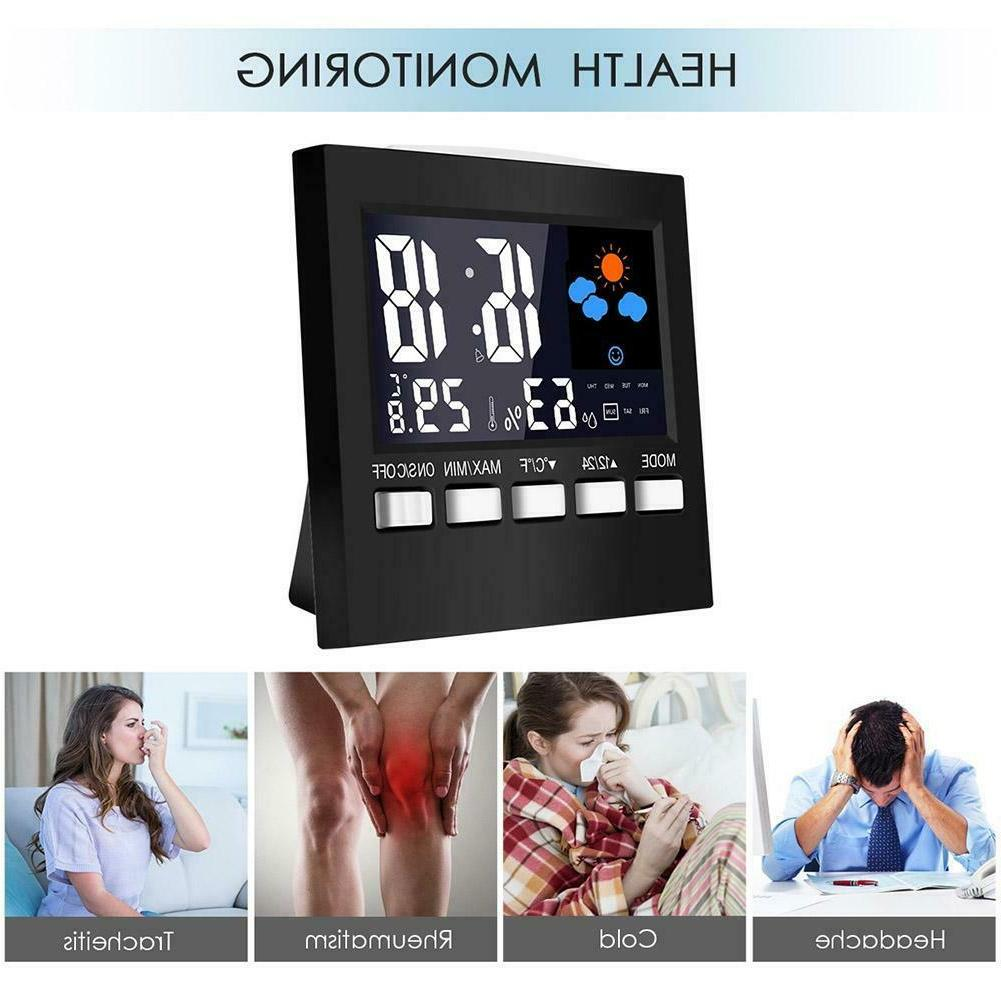 LCD Digital Weather Station Multi-function Thermometer Hygrometer Clock