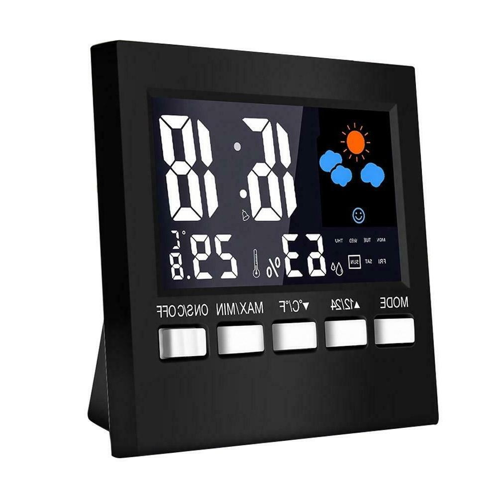 LCD Digital Weather Multi-function Thermometer Hygrometer