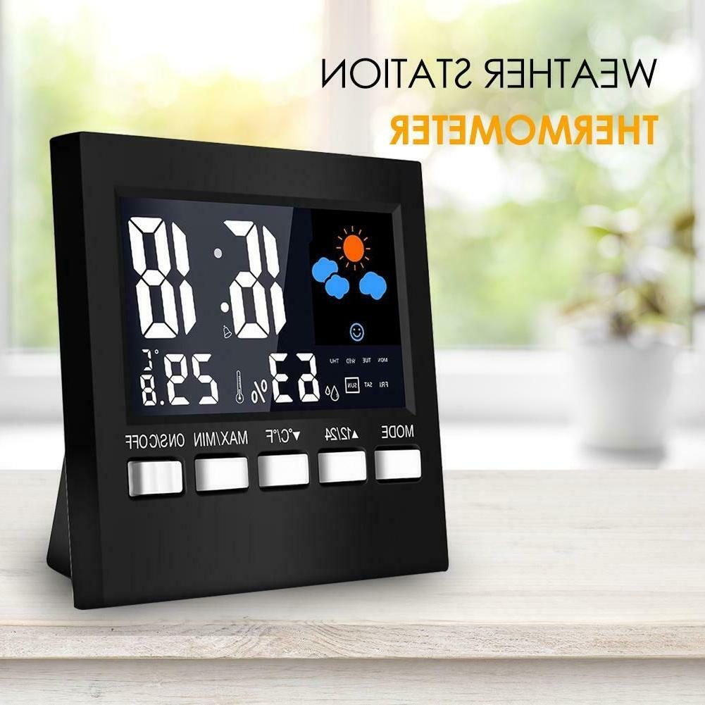 LCD Digital Weather Multi-function Thermometer Clock