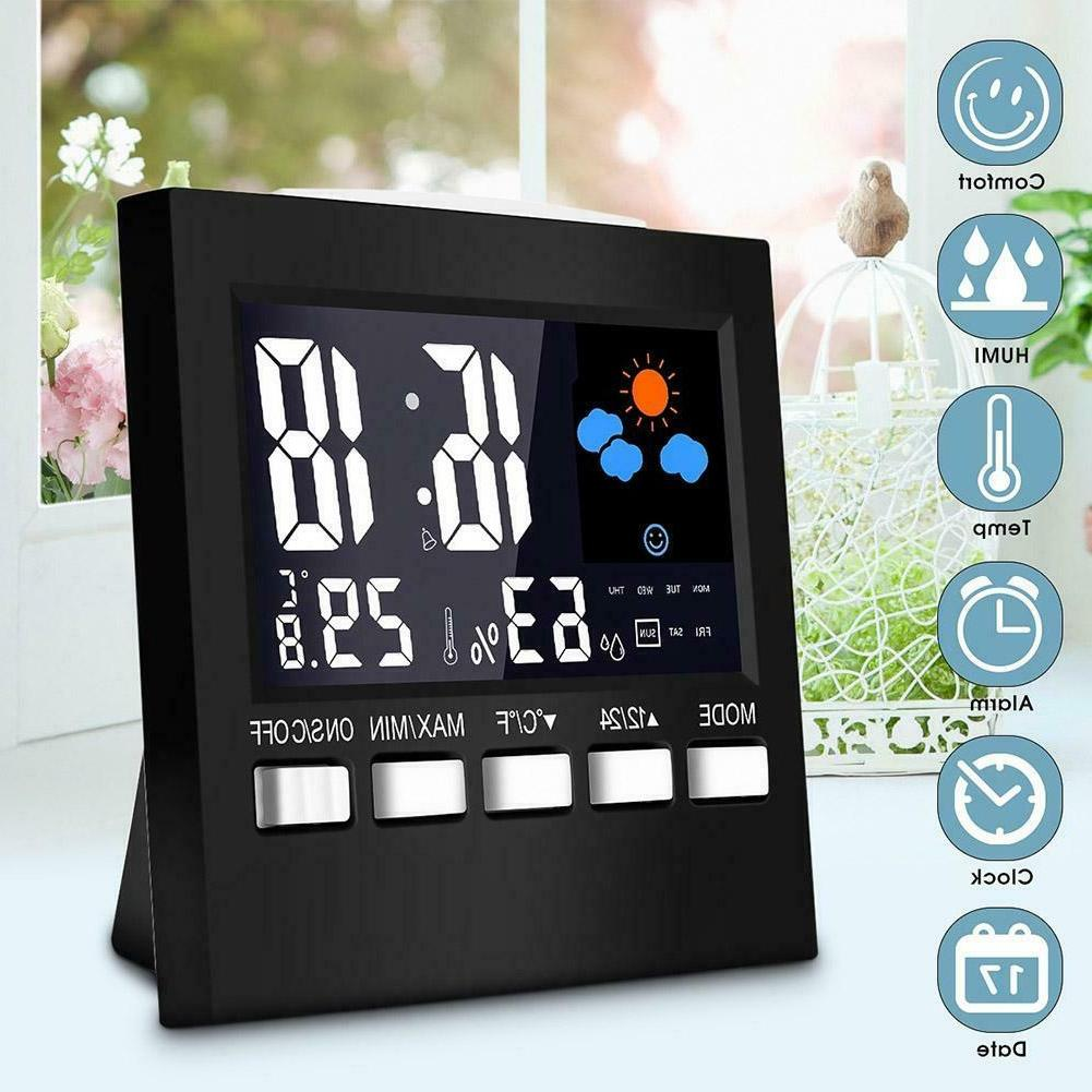lcd digital weather station multi function thermometer